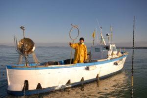pesca con i tramagli