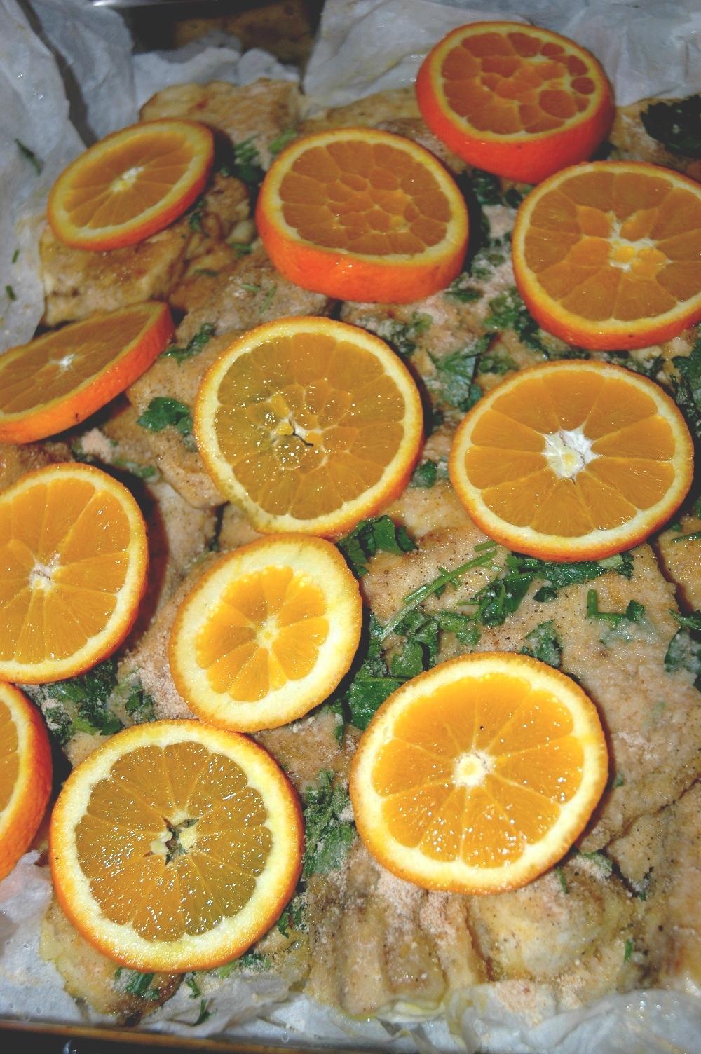 ricciola all'arancia